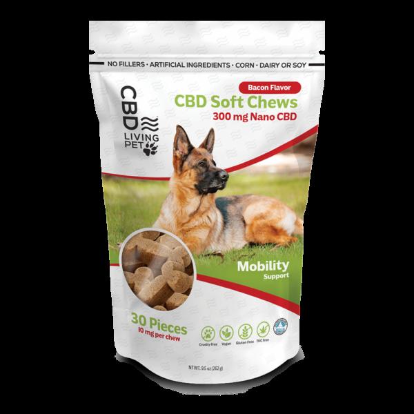 Photo of CBD Dog treats package containing 30 treats..