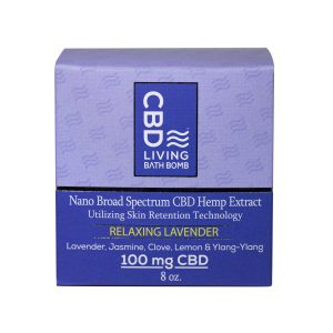 CBD Bath Bomb (Relaxing Lavender) – 100 mg