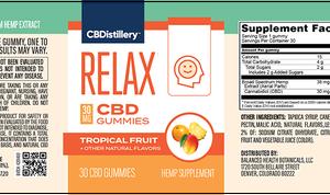 30mg Broad Spectrum CBD Relaxing Gummies – 30 Count