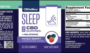 30mg Broad Spectrum CBD Sleep Gummies + Melatonin – 30 Count